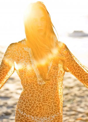 Amor & Psyche Tunika Seidenbluse Seidenhemd Beachwear
