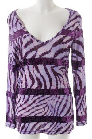 Amor & Psyche V-hals shirt abstracte print feest stijl