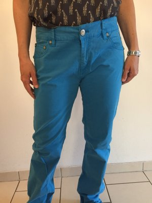 Amor, Trust & Truth Five-Pocket Trousers neon blue cotton