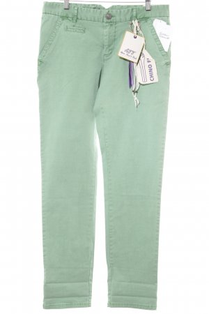 Amor, Trust & Truth Pantalon chinos vert clair Motif de tissage