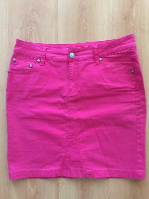 Amor, Trust & Truth Denim Skirt magenta cotton