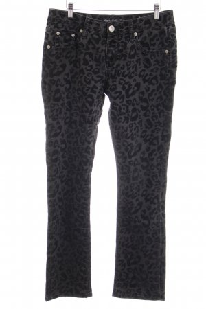Amor, Trust & Truth High Waist Trousers black-grey leopard pattern animal print