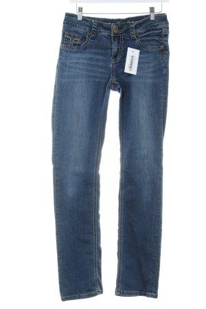 Amor, Trust & Truth Jeans coupe-droite bleu style délavé