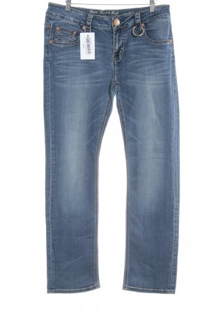 Amor, Trust & Truth Straight Leg Jeans dark blue jeans look