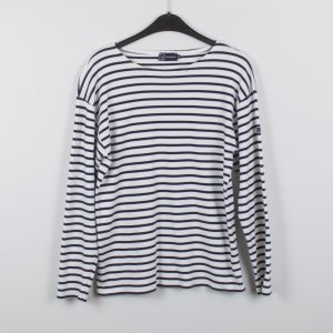 Sweat Shirt white-dark blue cotton