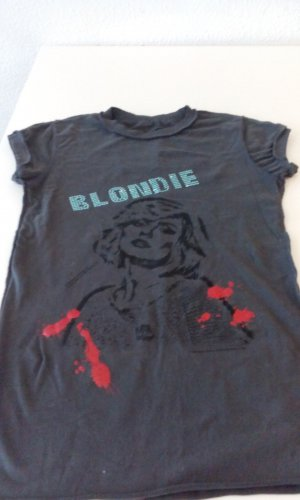 Amplified Vintage T-Shirts  Grau Anthrazit Official Blondie Merchandise