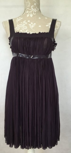 Alexander McQueen Babydoll Dress brown violet