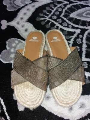 Shabbies amsterdam High-Heeled Sandals grey brown