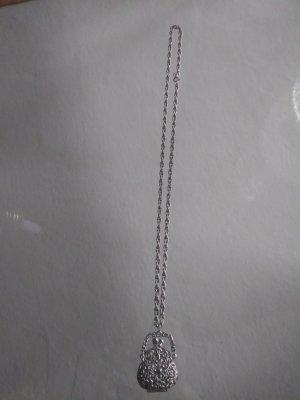 Amulett aus Echtsilber an Kette - Vintage
