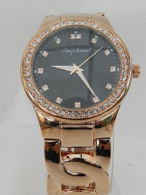 Amy Vermont Montre analogue or rose