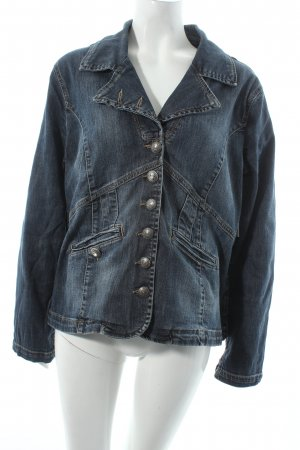 Amy Vermont Jeansblazer dunkelblau Jeans-Optik