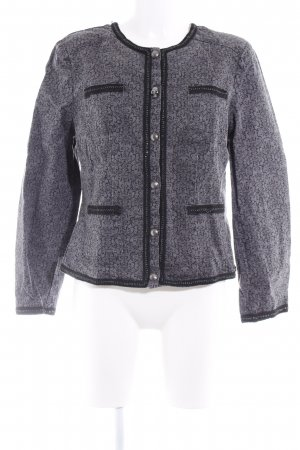 Amy Vermont Denim Jacket dark grey-black embellished pattern extravagant style