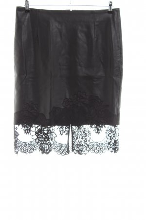 Amy Vermont Faux Leather Skirt black casual look