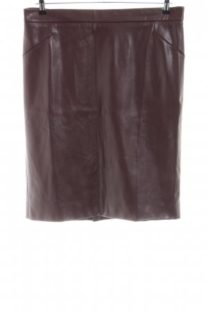 Amy Vermont Faux Leather Skirt brown business style