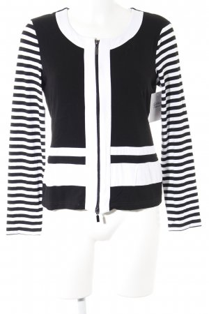 Amy Vermont Short Jacket white-black color blocking casual look
