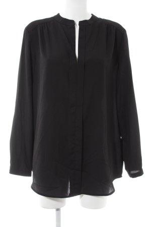 Amy Vermont Blouse met lange mouwen zwart casual uitstraling