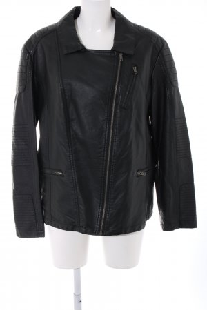 Amy Vermont Giacca in pelle nero stile casual