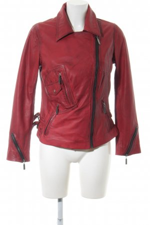 Amy Vermont Leather Jacket red casual look