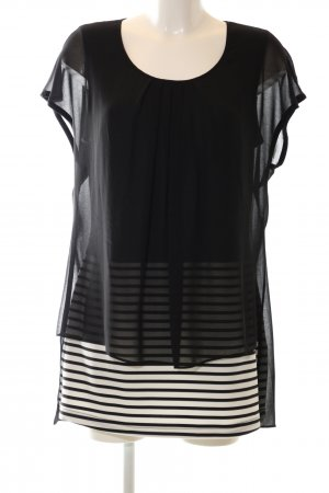 Amy Vermont Long Blouse black-white striped pattern casual look