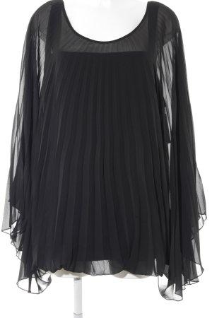Amy Vermont Schlupf-Bluse schwarz Elegant