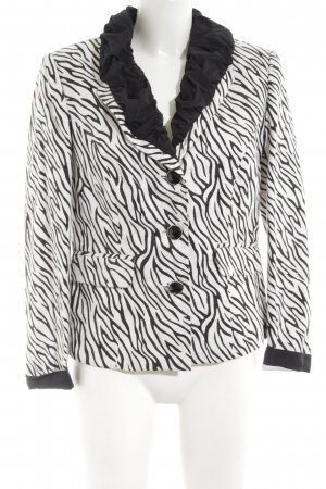 Amy Vermont Tuxedo Blazer black-white animal pattern casual look