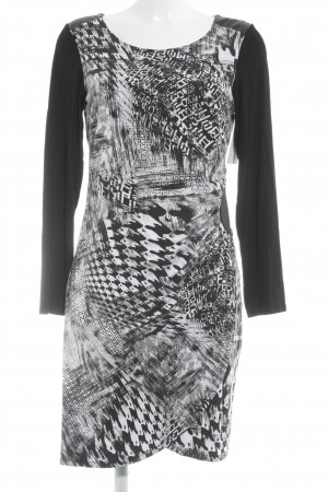 Amy Vermont Stretch Dress black-white mixed pattern casual look