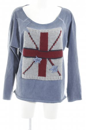 Amy Vermont Sweatshirt graublau Washed-Optik