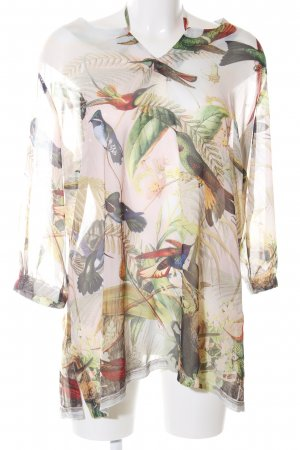 Amy Vermont Transparent Blouse allover print casual look
