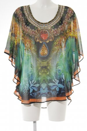 Amy Vermont Transparante blouse abstract patroon extravagante stijl