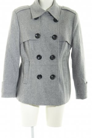 Amy Vermont Wolljacke grau Casual-Look