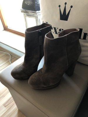Another A Platform Booties light brown-beige