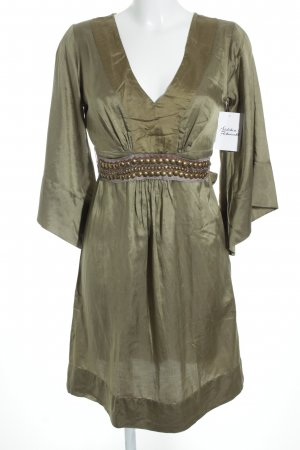 Ana Alcazar A Line Dress gold-colored-olive green elegant