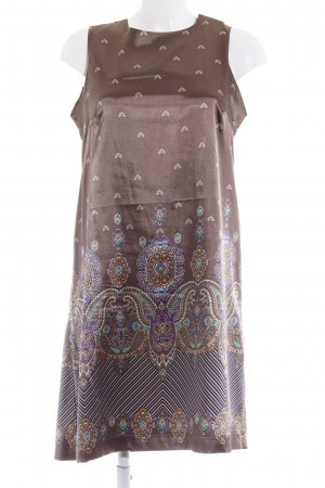Ana Alcazar A-lijn jurk lichtbruin bloemen patroon elegant