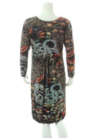 Ana Alcazar A-Linien Kleid schwarz Allover-Druck extravaganter Stil