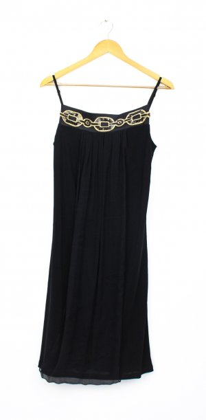 Ana Alcazar Robe de cocktail noir-brun sable