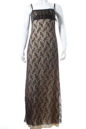 Ana Alcazar Abendkleid schwarz-beige Romantik-Look