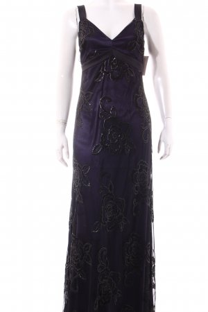 Ana Alcazar Evening Dress black-dark violet Sequin ornaments