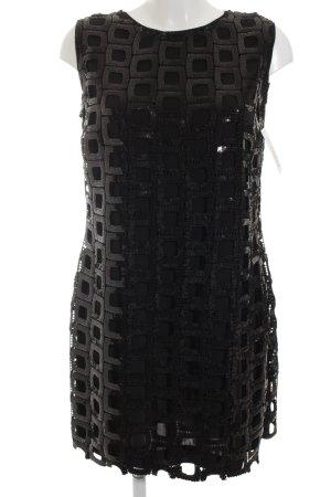 Ana Alcazar Abendkleid schwarz Karomuster Elegant