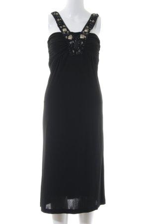 Ana Alcazar Vestido de noche negro estilo fiesta