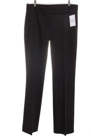 Ana Alcazar Anzughose dunkelbraun-weiß Nadelstreifen Business-Look