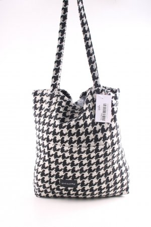 Ana Alcazar Pouch Bag light grey-black houndstooth pattern street-fashion look