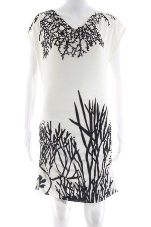 Ana Alcazar Bleistiftkleid wollweiß-schwarz abstraktes Muster Elegant