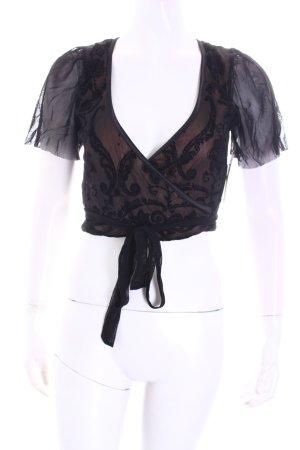 Ana Alcazar Bolero schwarz-beige Paisleymuster Elegant