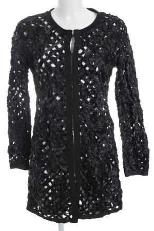 Ana Alcazar Cardigan schwarz florales Muster Elegant