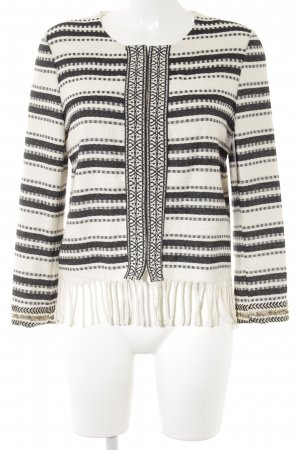 Ana Alcazar Cardigan natural white-black mixed pattern hippie style