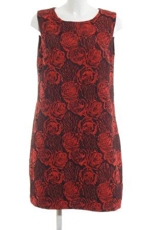 Ana Alcazar Cocktail Dress black-red flower pattern elegant