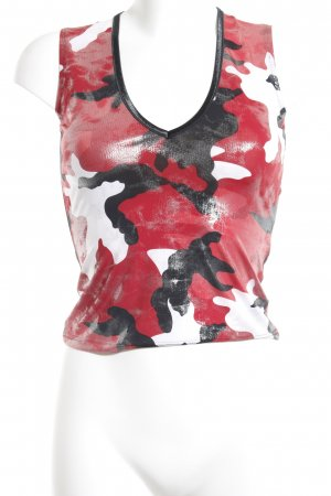 Ana Alcazar Cropped Top camouflage pattern extravagant style