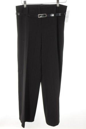 Ana Alcazar Culottes zwart gestreept patroon zakelijke stijl