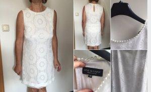 Ana Alcazar Damen Kleid weiß 38 mit Perlen
