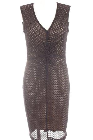 Ana Alcazar Sheath Dress cream-black loosely knitted pattern elegant